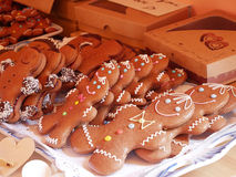 Gingerbread Christmas biscuits. Stock Photo