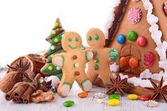 Gingerbread christmas Stock Photography
