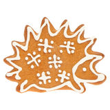 Gingerbread Christmas cookie hedgehog Royalty Free Stock Photography
