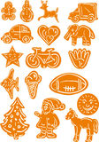 Gingerbread christmas cookies. Vector - set of Gingerbread Christmas cookies Stock Images