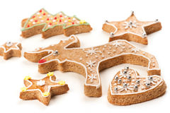 Gingerbread Christmas cookies Royalty Free Stock Photos