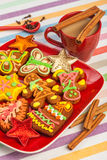 Gingerbread, Christmas cookies and cinnamon Stock Photography