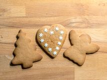 Gingerbread Christmas cookies royalty free stock image