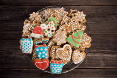 Gingerbread for Christmas Stock Photos