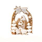 Gingerbread Christmas crib Stock Images