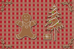 Gingerbread and Christmas Royalty Free Stock Photography