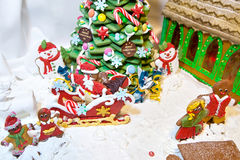 Gingerbread Christmas decoration Stock Photos