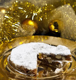 Gingerbread with Christmas decorations stock image