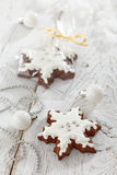 Gingerbread and christmas decorations Royalty Free Stock Image