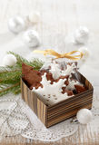 Gingerbread and christmas decorations Royalty Free Stock Images