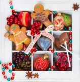 Gingerbread with christmas decorations Royalty Free Stock Image
