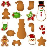 Gingerbread (Christmas festival biscuit - cookie). A colorful set of Vector Icons : Gingerbread (Christmas festival biscuit - cookie royalty free illustration