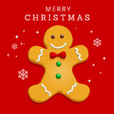 Gingerbread Christmas Greeting Card Royalty Free Stock Image
