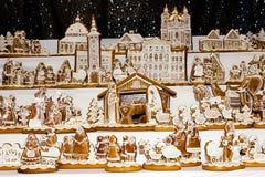 Gingerbread christmas nativity scene Royalty Free Stock Photos