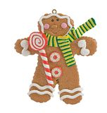 Gingerbread christmas ornament. Traditional Christmas ornament on white Royalty Free Stock Images