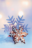 Gingerbread Christmas snowflake Royalty Free Stock Images