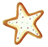 Gingerbread christmas star cookie Stock Image