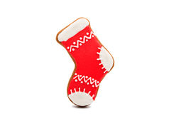 Gingerbread Christmas stocking Stock Photography