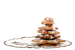 Gingerbread Christmas tree Stock Photo