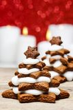 Gingerbread christmas tree. Beautiful xmas dessert. Copy space Royalty Free Stock Photos