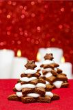 Gingerbread christmas tree. Beautiful xmas dessert. Copy space Royalty Free Stock Photo