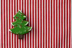 Gingerbread christmas tree cookie royalty free stock image