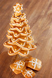 Gingerbread christmas tree. Stock Photos
