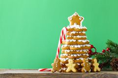 Gingerbread Christmas tree for decoration and dessert Royalty Free Stock Images