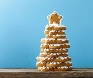 Gingerbread Christmas tree for decoration and dessert Royalty Free Stock Photography