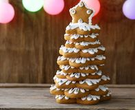Gingerbread Christmas tree for decoration and dessert Stock Images
