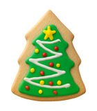 Gingerbread Christmas Tree with Decorations Stock Images