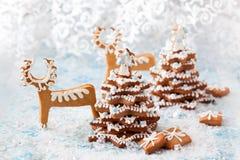 Gingerbread Christmas tree Stock Image