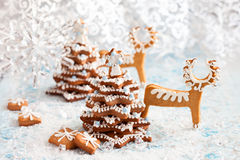 Gingerbread Christmas tree Royalty Free Stock Photos
