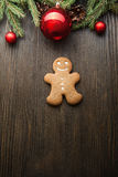 Gingerbread Christmas tree and gift Stock Image
