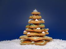 Gingerbread christmas tree Stock Images
