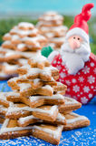 Gingerbread christmas tree and Santa Claus Royalty Free Stock Photos