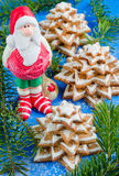 Gingerbread christmas tree and Santa Claus Stock Photo