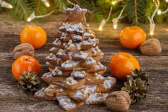 Gingerbread christmas tree Royalty Free Stock Images