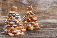 Gingerbread christmas tree Stock Image