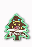 Gingerbread christmas tree on white background Royalty Free Stock Photography