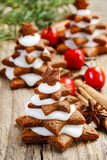 Gingerbread christmas tree Stock Photos