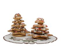 Gingerbread christmas trees Royalty Free Stock Photo