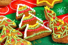 Gingerbread Christmas trees Stock Photos