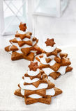 Gingerbread christmas trees. Royalty Free Stock Photos