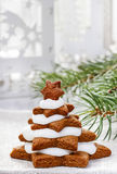 Gingerbread christmas trees Stock Photography