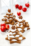 Gingerbread christmas trees Stock Photo