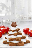 Gingerbread christmas trees. Beautiful xmas Stock Photography