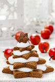 Gingerbread christmas trees. Beautiful xmas Stock Images
