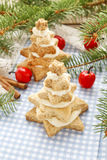 Gingerbread christmas trees. Beautiful xmas dessert Royalty Free Stock Photo