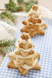 Gingerbread christmas trees. Beautiful xmas dessert Royalty Free Stock Images